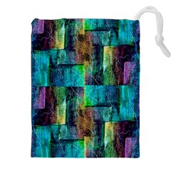Abstract Square Wall Drawstring Pouches (xxl)