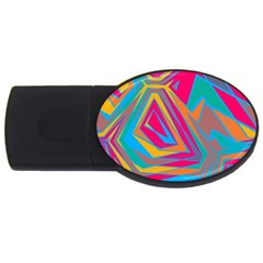 Distorted shapes			USB Flash Drive Oval (1 GB) by LalyLauraFLM
