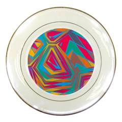 Distorted Shapes			porcelain Plate by LalyLauraFLM
