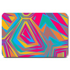 Distorted Shapeslarge Doormat by LalyLauraFLM