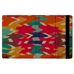 Retro Colors Distorted Shapes			apple Ipad 3/4 Flip Case by LalyLauraFLM