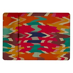Retro colors distorted shapes			Samsung Galaxy Tab 10.1  P7500 Flip Case by LalyLauraFLM
