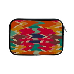 Retro Colors Distorted Shapes			apple Ipad Mini Zipper Case by LalyLauraFLM