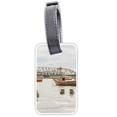 Boats At Santa Lucia River In Montevideo Uruguay Luggage Tags (One Side)  by dflcprints