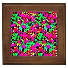 Colorful Leaves Framed Tiles by Costasonlineshop