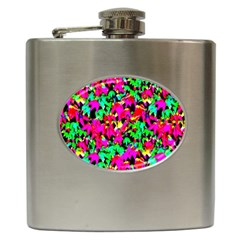 Colorful Leaves Hip Flask (6 Oz) by Costasonlineshop