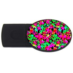 Colorful Leaves Usb Flash Drive Oval (2 Gb)  by Costasonlineshop
