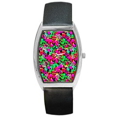 Colorful Leaves Barrel Metal Watches by Costasonlineshop