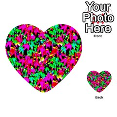 Colorful Leaves Multi Purpose Cards (heart)  by Costasonlineshop