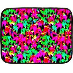 Colorful Leaves Fleece Blanket (mini) by Costasonlineshop