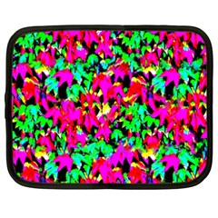 Colorful Leaves Netbook Case (xxl)  by Costasonlineshop