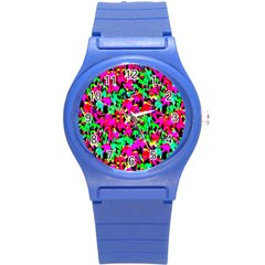 Colorful Leaves Round Plastic Sport Watch (s) by Costasonlineshop