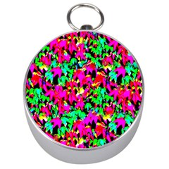Colorful Leaves Silver Compasses by Costasonlineshop