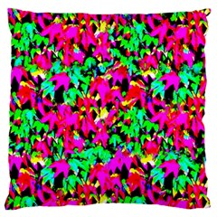 Colorful Leaves Large Flano Cushion Cases (one Side)  by Costasonlineshop