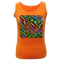 Cool Glitter Pattern Women s Dark Tank Tops by Costasonlineshop