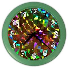 Cool Glitter Pattern Color Wall Clocks by Costasonlineshop