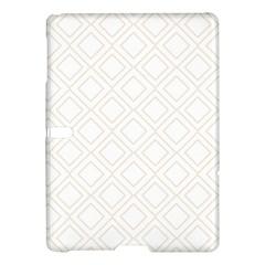 Elegant Beige Modern Pattern Design Samsung Galaxy Tab S (10 5 ) Hardshell Case  by FowlDesigns