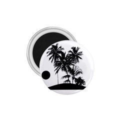 Tropical Scene Island Sunset Illustration 1 75  Magnets by dflcprints