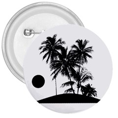 Tropical Scene Island Sunset Illustration 3  Buttons by dflcprints