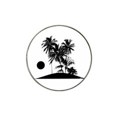 Tropical Scene Island Sunset Illustration Hat Clip Ball Marker (4 Pack) by dflcprints