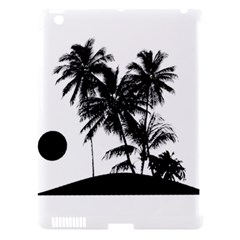 Tropical Scene Island Sunset Illustration Apple Ipad 3/4 Hardshell Case (compatible With Smart Cover) by dflcprints