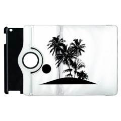 Tropical Scene Island Sunset Illustration Apple Ipad 3/4 Flip 360 Case by dflcprints