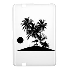 Tropical Scene Island Sunset Illustration Kindle Fire HD 8.9  by dflcprints