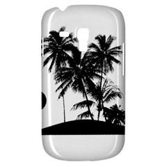 Tropical Scene Island Sunset Illustration Samsung Galaxy S3 Mini I8190 Hardshell Case by dflcprints