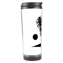 Tropical Scene Island Sunset Illustration Travel Tumblers by dflcprints