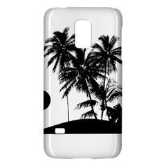 Tropical Scene Island Sunset Illustration Galaxy S5 Mini by dflcprints