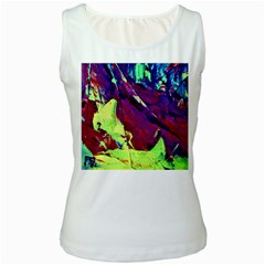 Abstract Painting Blue,yellow,red,green Women s Tank Tops by Costasonlineshop