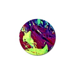 Abstract Painting Blue,yellow,red,green Golf Ball Marker (4 Pack) by Costasonlineshop