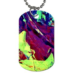 Abstract Painting Blue,yellow,red,green Dog Tag (two Sides) by Costasonlineshop