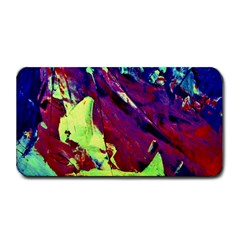 Abstract Painting Blue,Yellow,Red,Green Medium Bar Mats by Costasonlineshop
