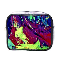 Abstract Painting Blue,Yellow,Red,Green Mini Toiletries Bags by Costasonlineshop