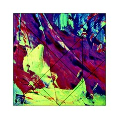 Abstract Painting Blue,yellow,red,green Acrylic Tangram Puzzle (6  X 6 ) by Costasonlineshop