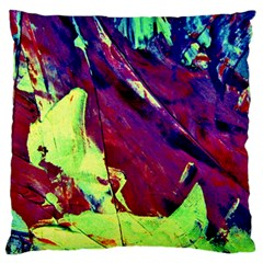 Abstract Painting Blue,yellow,red,green Large Cushion Cases (two Sides)  by Costasonlineshop