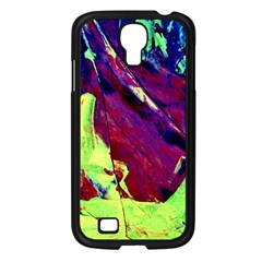 Abstract Painting Blue,yellow,red,green Samsung Galaxy S4 I9500/ I9505 Case (black) by Costasonlineshop