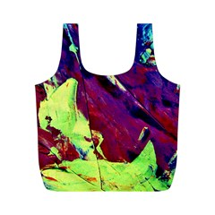 Abstract Painting Blue,yellow,red,green Full Print Recycle Bags (m)  by Costasonlineshop