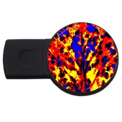 Fire Tree Pop Art Usb Flash Drive Round (4 Gb)  by Costasonlineshop