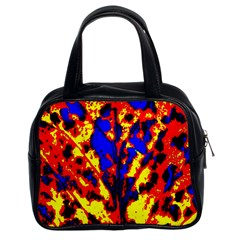 Fire Tree Pop Art Classic Handbags (2 Sides) by Costasonlineshop