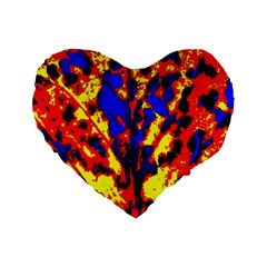 Fire Tree Pop Art Standard 16  Premium Heart Shape Cushions by Costasonlineshop