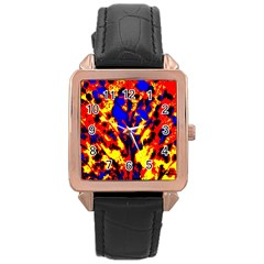 Fire Tree Pop Art Rose Gold Watches by Costasonlineshop