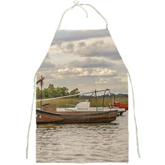 Fishing And Sailboats At Santa Lucia River In Montevideo Full Print Aprons by dflcprints