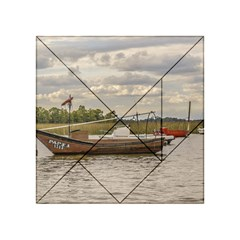 Fishing And Sailboats At Santa Lucia River In Montevideo Acrylic Tangram Puzzle (4  x 4 ) by dflcprints