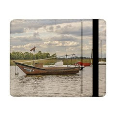 Fishing And Sailboats At Santa Lucia River In Montevideo Samsung Galaxy Tab Pro 8 4  Flip Case by dflcprints