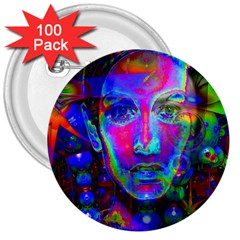 Night Dancer 3  Buttons (100 Pack)  by icarusismartdesigns