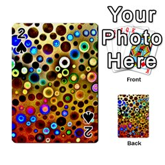 Colourful Circles Pattern Playing Cards 54 Designs  by Costasonlineshop
