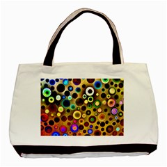 Colourful Circles Pattern Basic Tote Bag (two Sides)  by Costasonlineshop