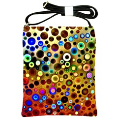 Colourful Circles Pattern Shoulder Sling Bags by Costasonlineshop